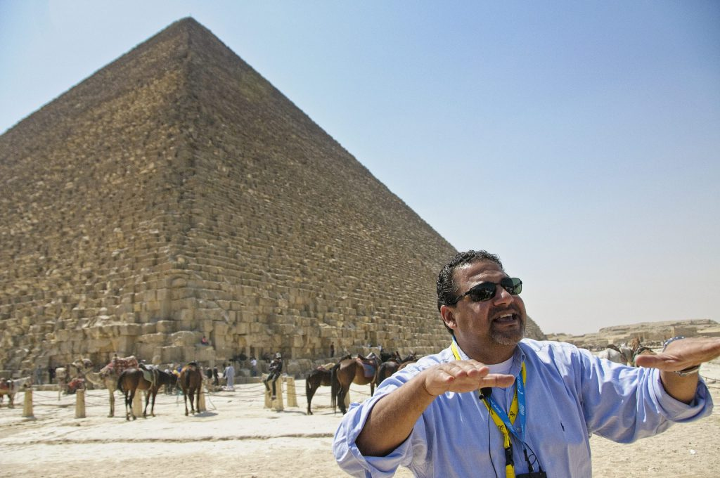 Mohamed at the Pyramids - Living Like a Local in Egypt