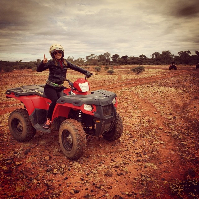 "My first 4-wheeling experience was quite thrilling- especially when we were told ""go as fast as you want but watch out for feral camels."" Um ok..."