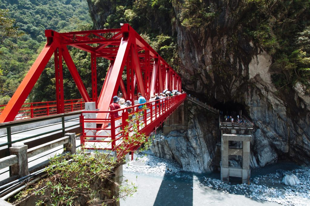 A suspension bridge near the Eternal Spring Shrine