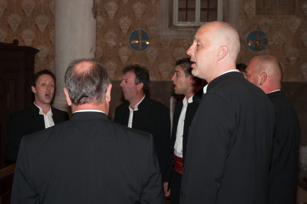 Klapa Motovun performing in Motovun's Parish Church of St. Stephen
