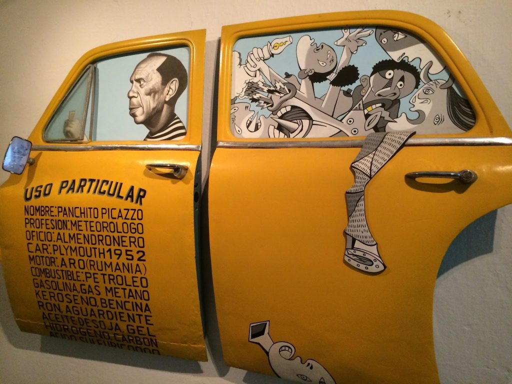 Taxi Wall Sculpture at F.A.C.