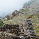 A view of the Urumbamba River far below the Machu Picchu Citadel