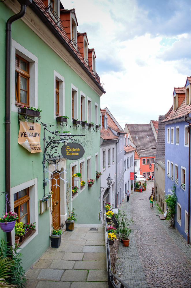 Narrow streets in Meissen