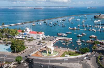 Looking towards the Bahia Marina