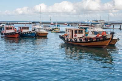 Colorful boats near the Bahia Marina
