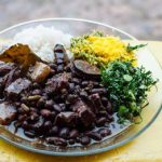 A tasty plate of Brazilian feijoada