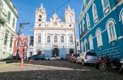 Salvador's colorful Pelourinho area
