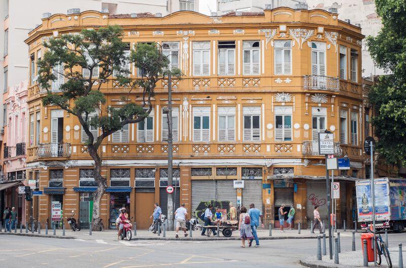 A building facade in Rio's Lapa neighborhood
