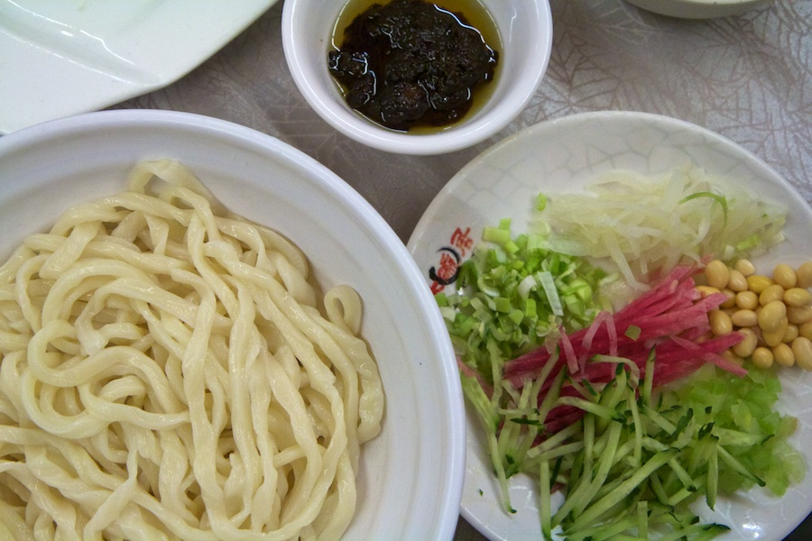 Peking Noodles is a dish you need to put together yourself!
