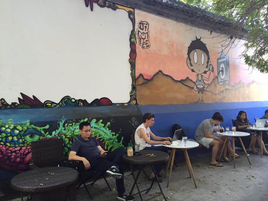 Chill cafes in the Nanluoguxiang hutong