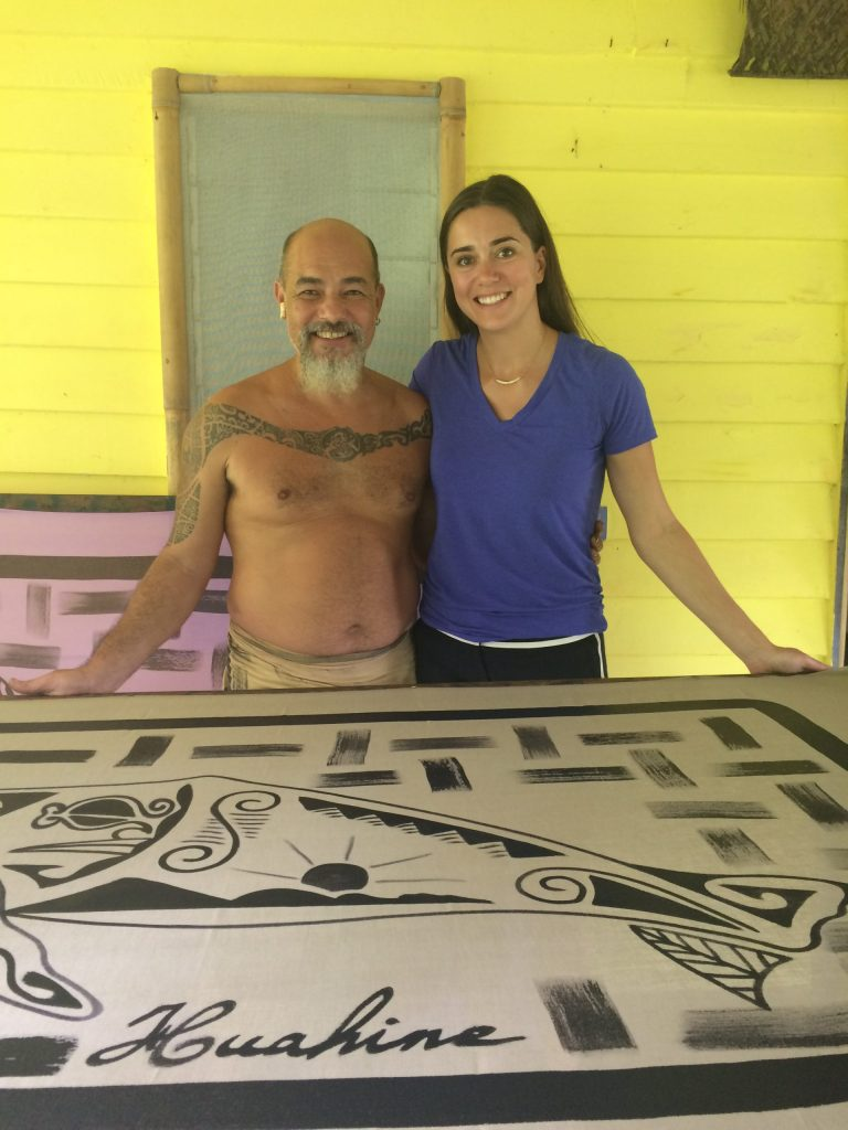 Frank, the Pareo Artist, Huahine