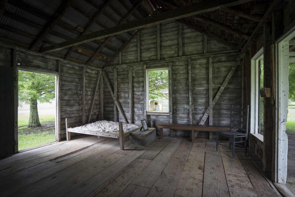 Carefully restored slave quarters at Frogmore Plantation, Louisiana