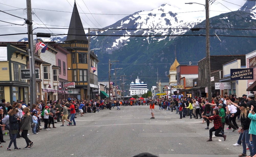 Epic Egg Toss in Skagway