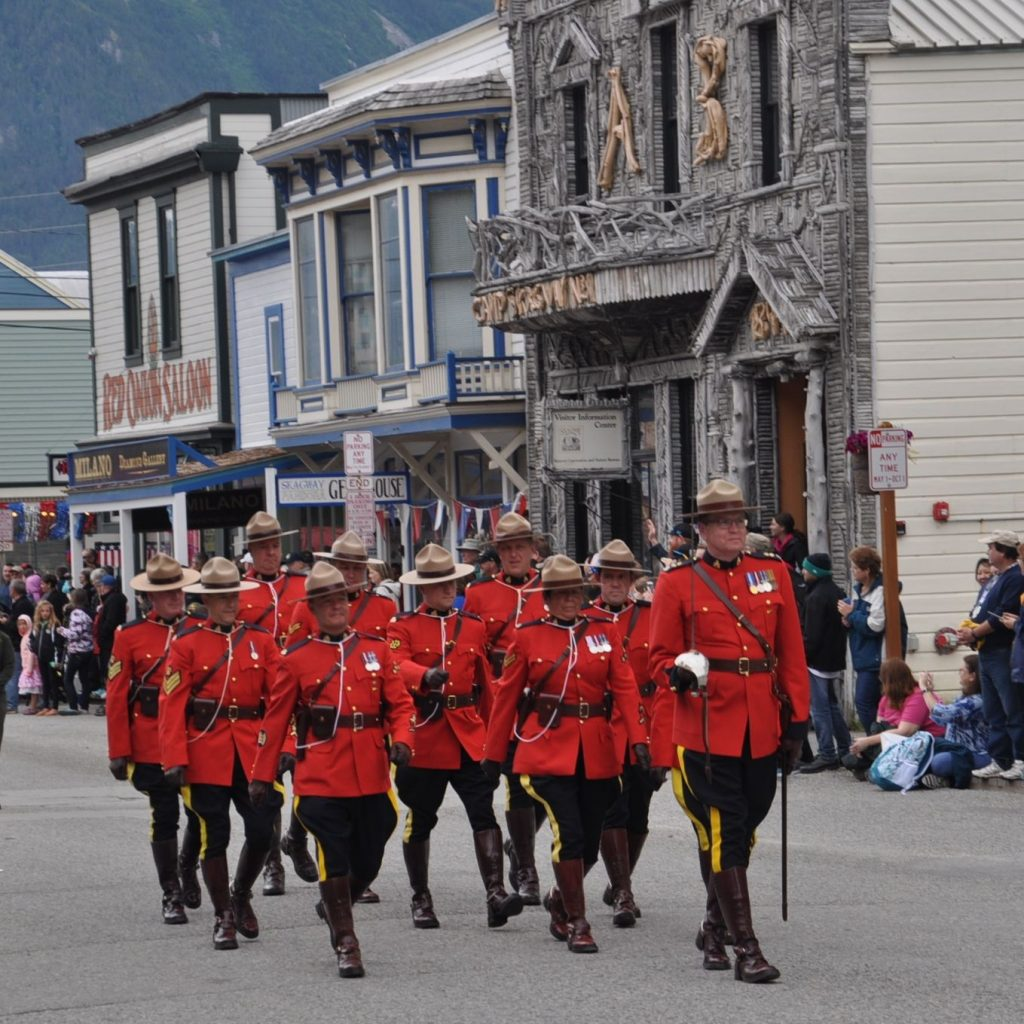 A regiment of Mounties in Skagway