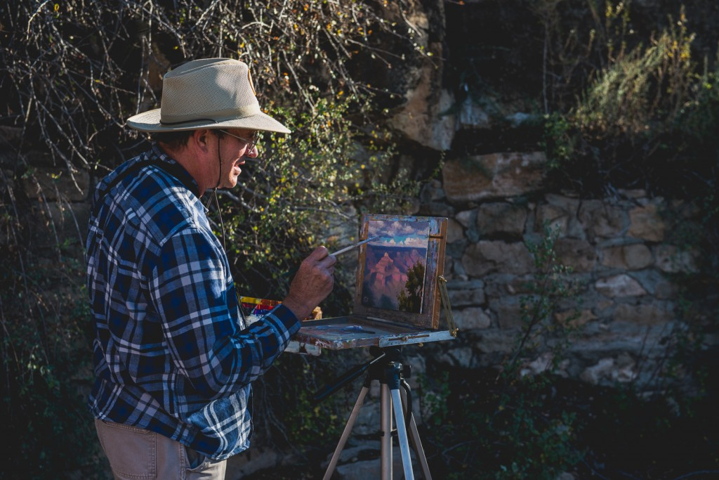 Artist at Work in the Grand Canyon (credit: Flash Parker)