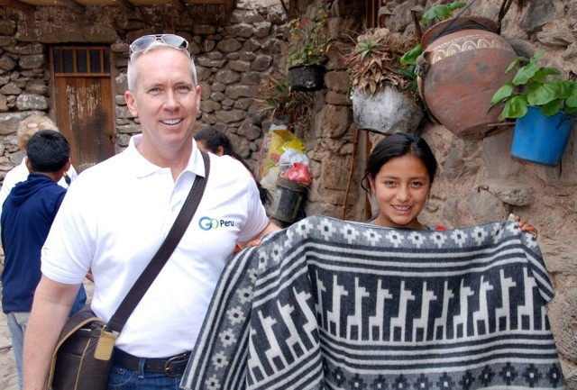 USTOA President Terry Dale in Peru
