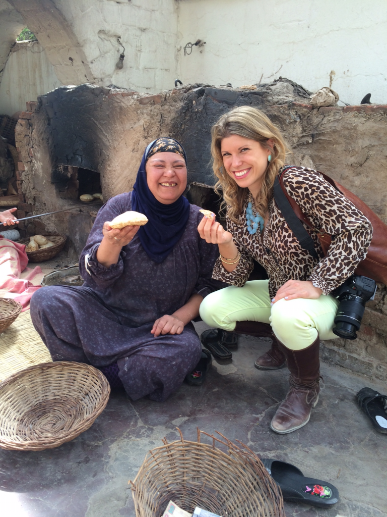 Sampling some of the local cuisine. Image: Kelley Ferro