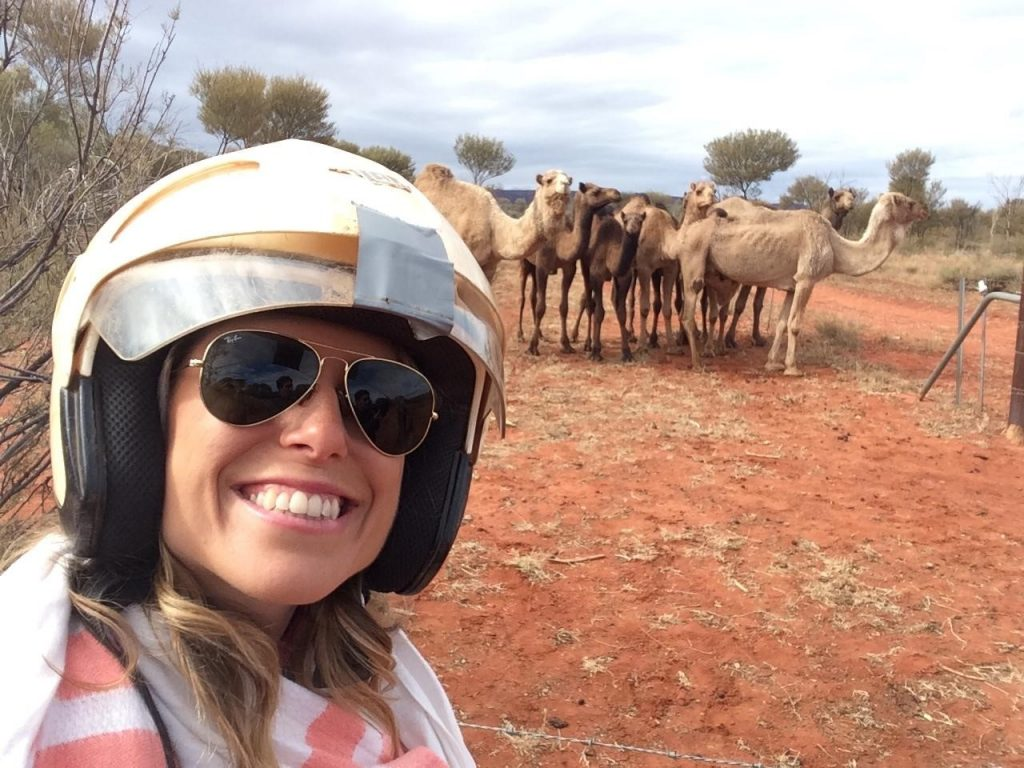 Though feral, these camels that we stumbled upon were so cute!