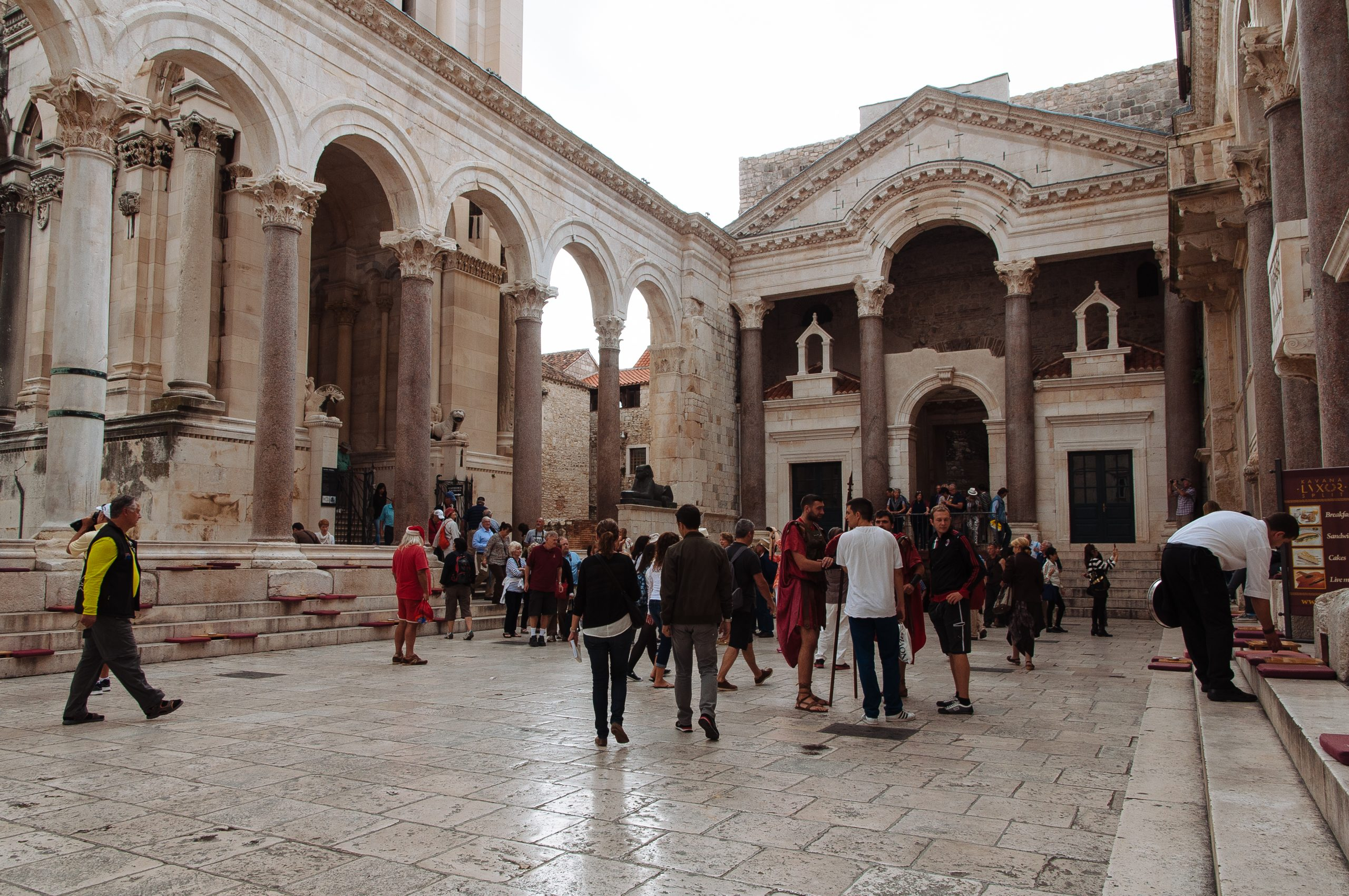 The central square in Diocletian's Palace