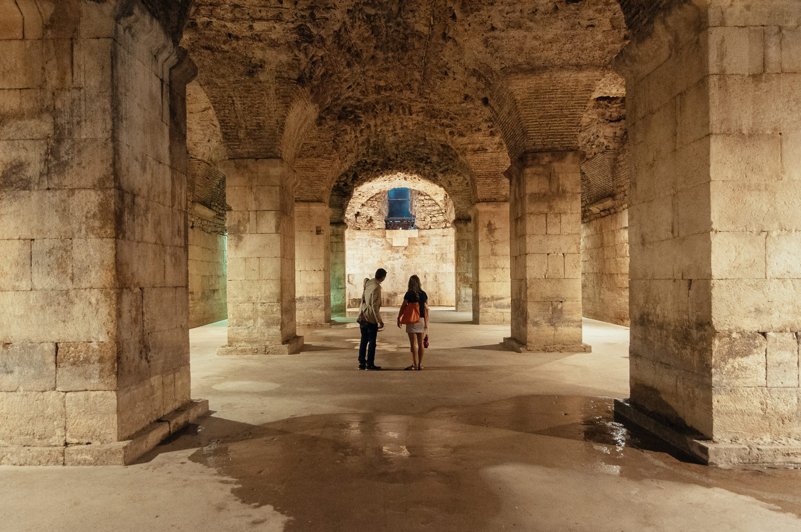 The Basement Halls in Diocletian's Palace