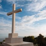 A large crucifix on top of Marjan