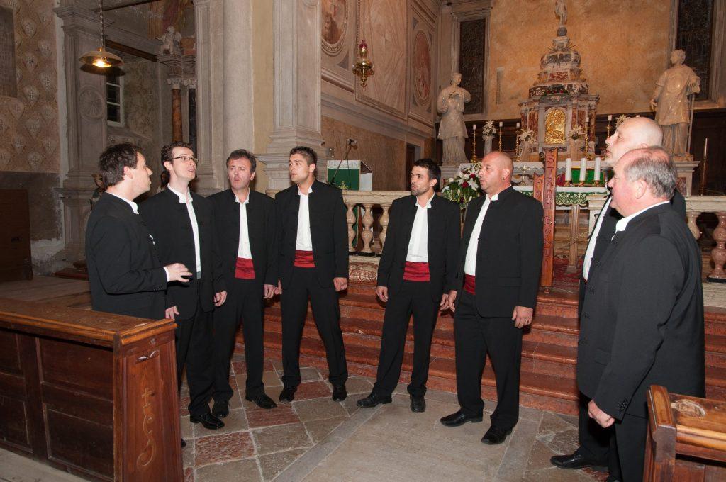 Klapa Motovun performing in Motovun's Parish Church of St. Stephen