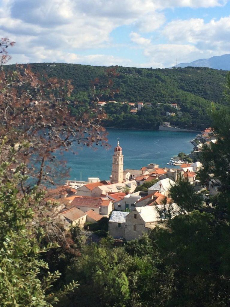 Pučišća from the top