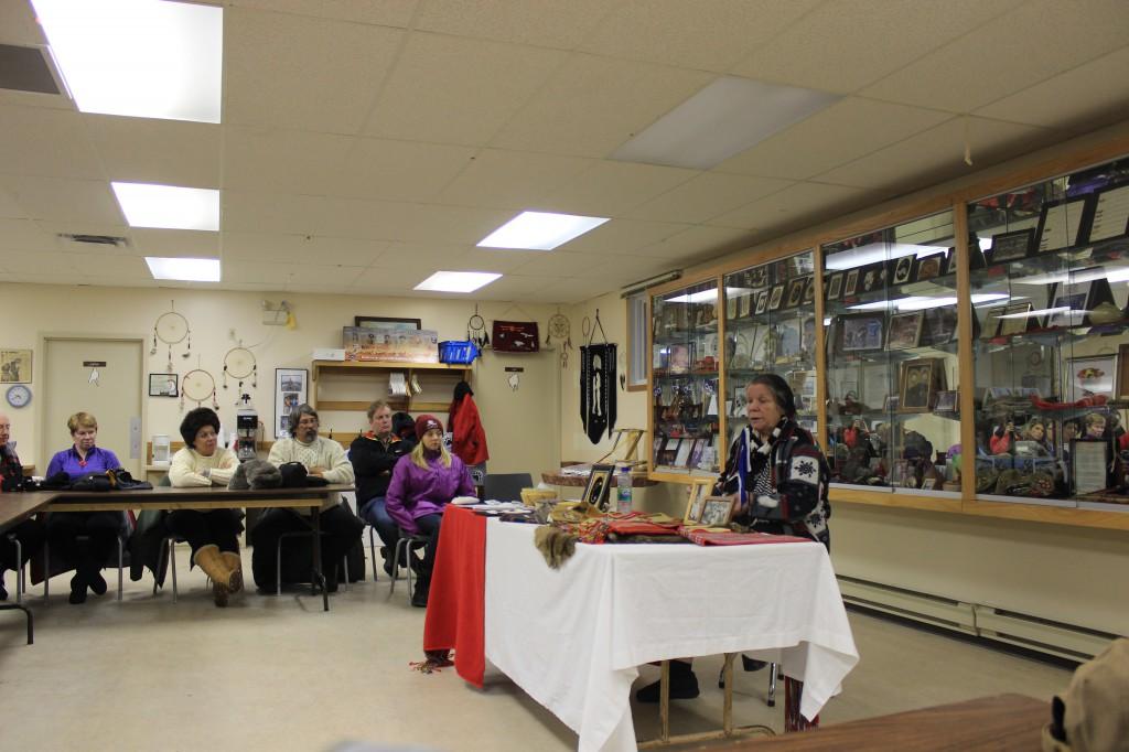 Learning from Myrtle, a native Maite storyteller.