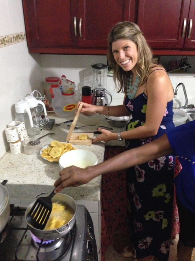 ...and taught me how to make Platanos
