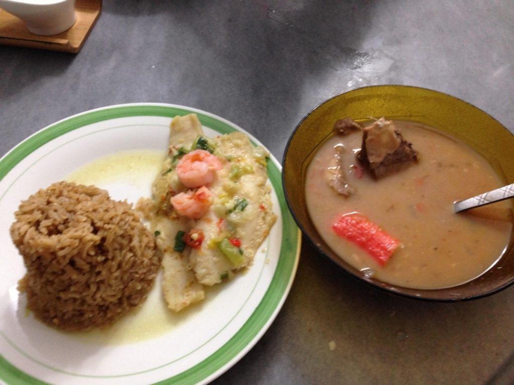 Fish, Coconut Rice and Marisco