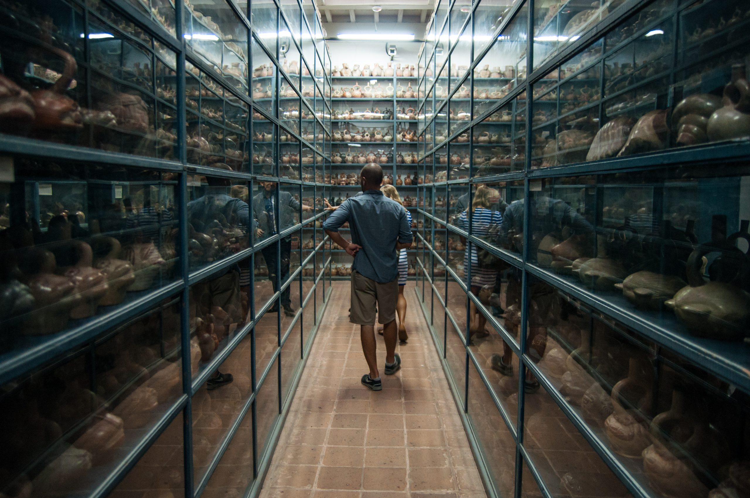 A section of the Larco Museum's vast warehouse