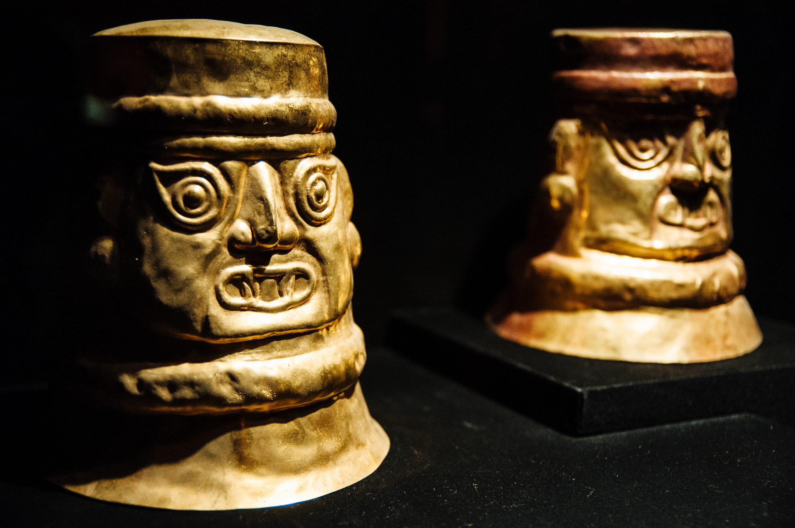 Artifacts on display at the Larco Museum in Lima, Peru