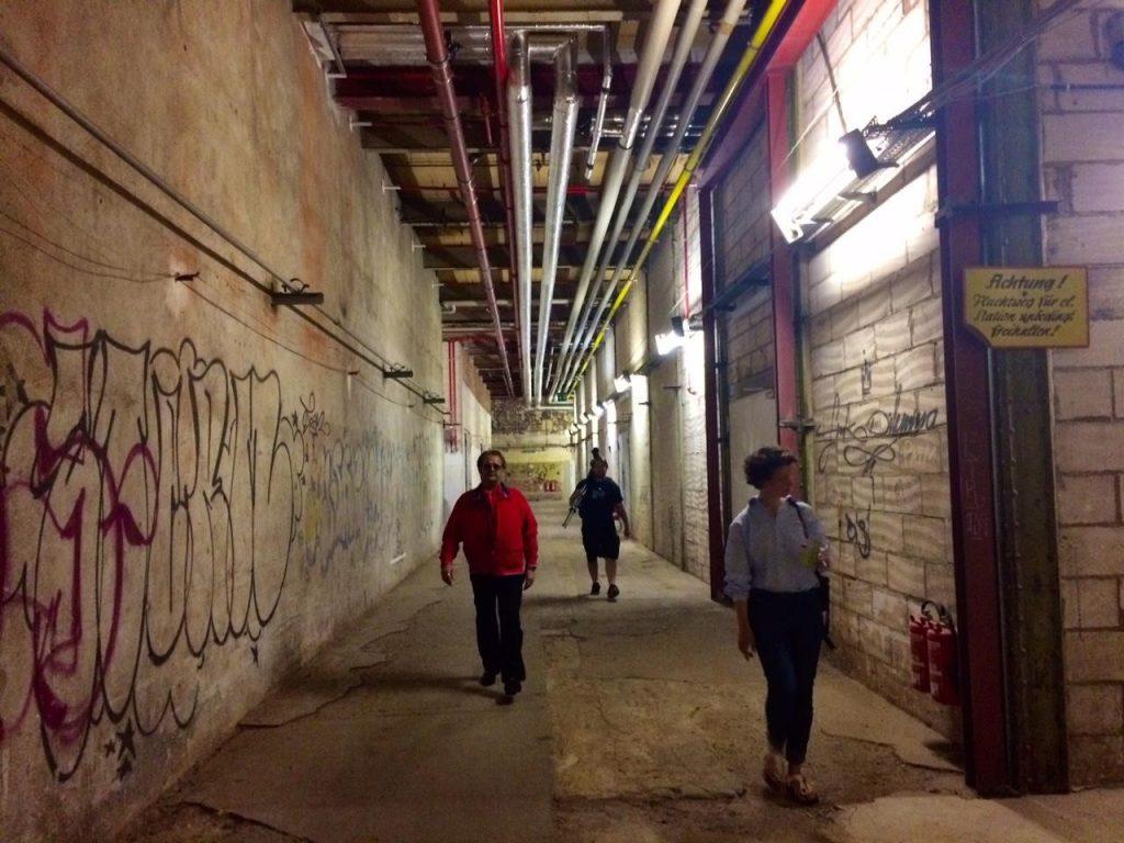 Hallways leading to LIA