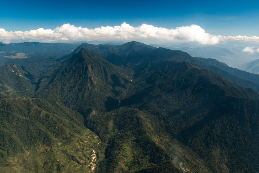 My first glimpse of Papua New Guinea's rugged Central Highlands.