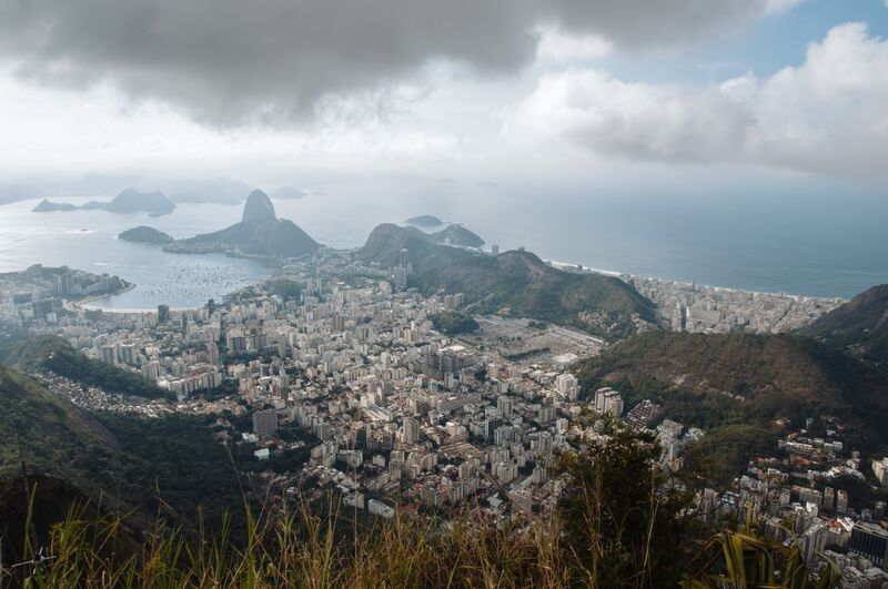 Looking toward Sugarloaf Mountain from Corcovado