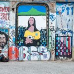 Colorful graffiti in Rio's Lapa neighborhood