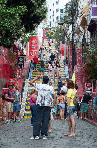 The incredible Escadaria Selarón, such a great artwork