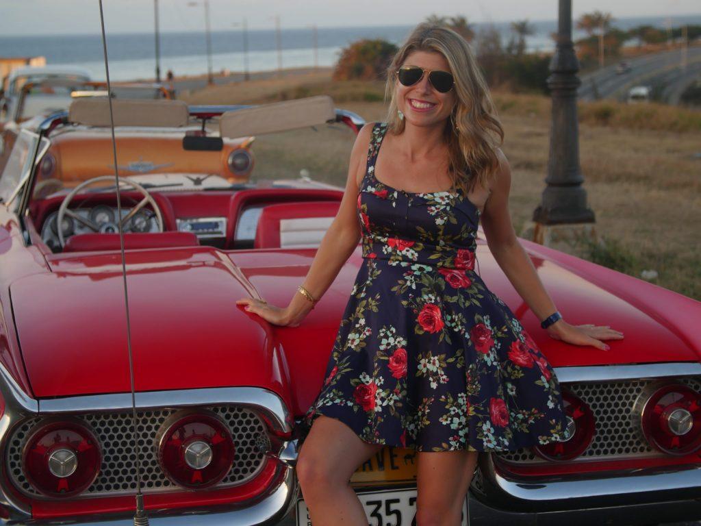 "Kelley Ferro in Cuba, the top ""emerging"" destination that will gain popularity in 2016 (credit: Brandon Widener)"