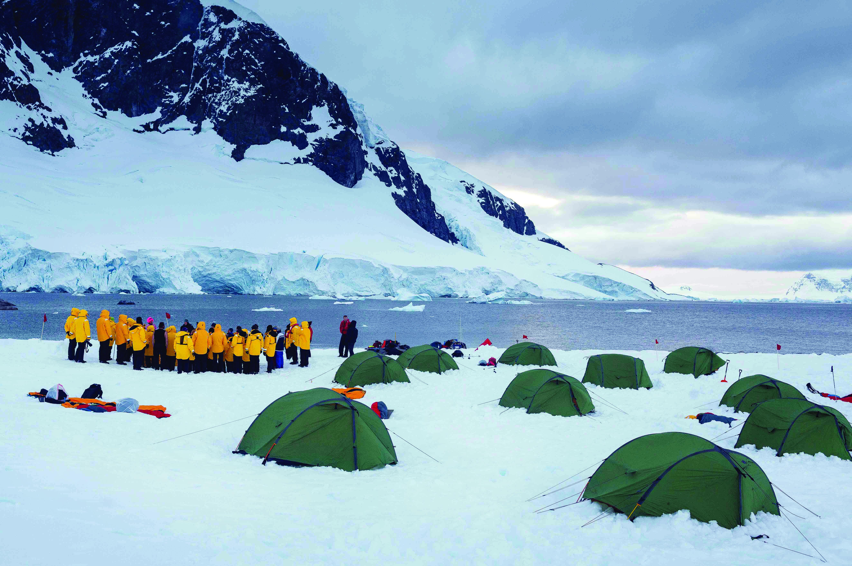 Camping in Antarctica (credit: QuarkExpeditions.com)
