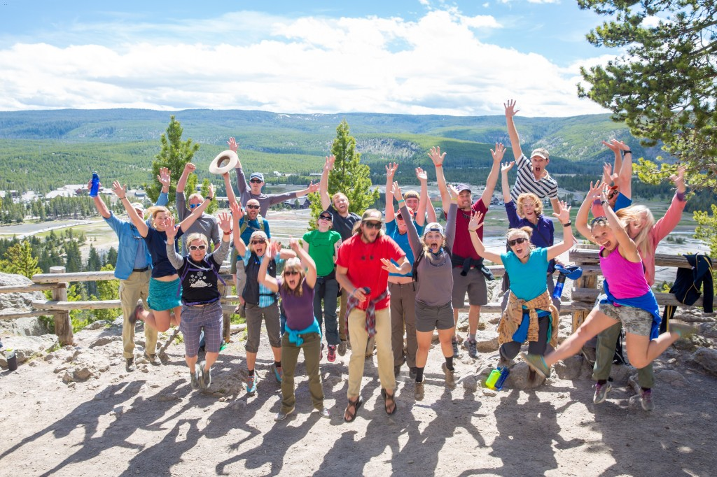 The Austin Guides - veterans and trainees - celebrate a good training week! (Photo by Andy Austin)