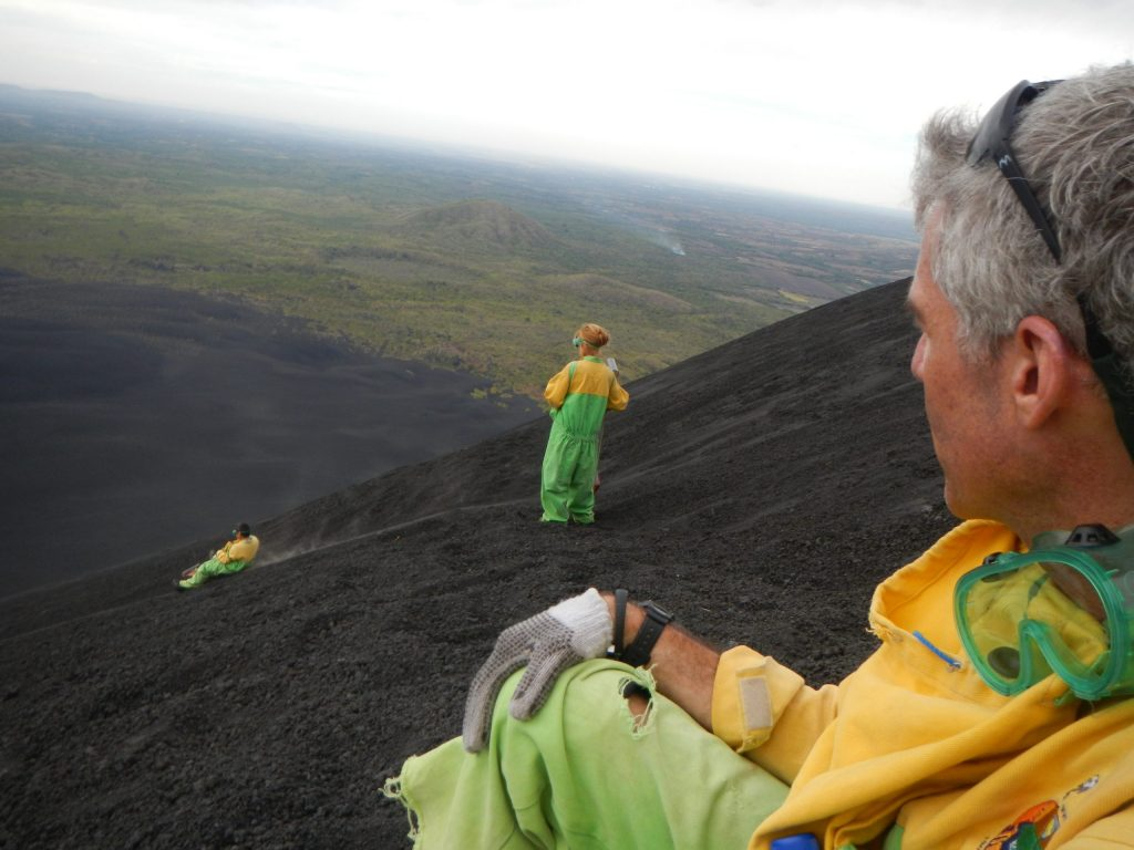 Sonne wouldn't have been able to cover ash-boarding down a volcano in Nicaragua without the help of a good guide.