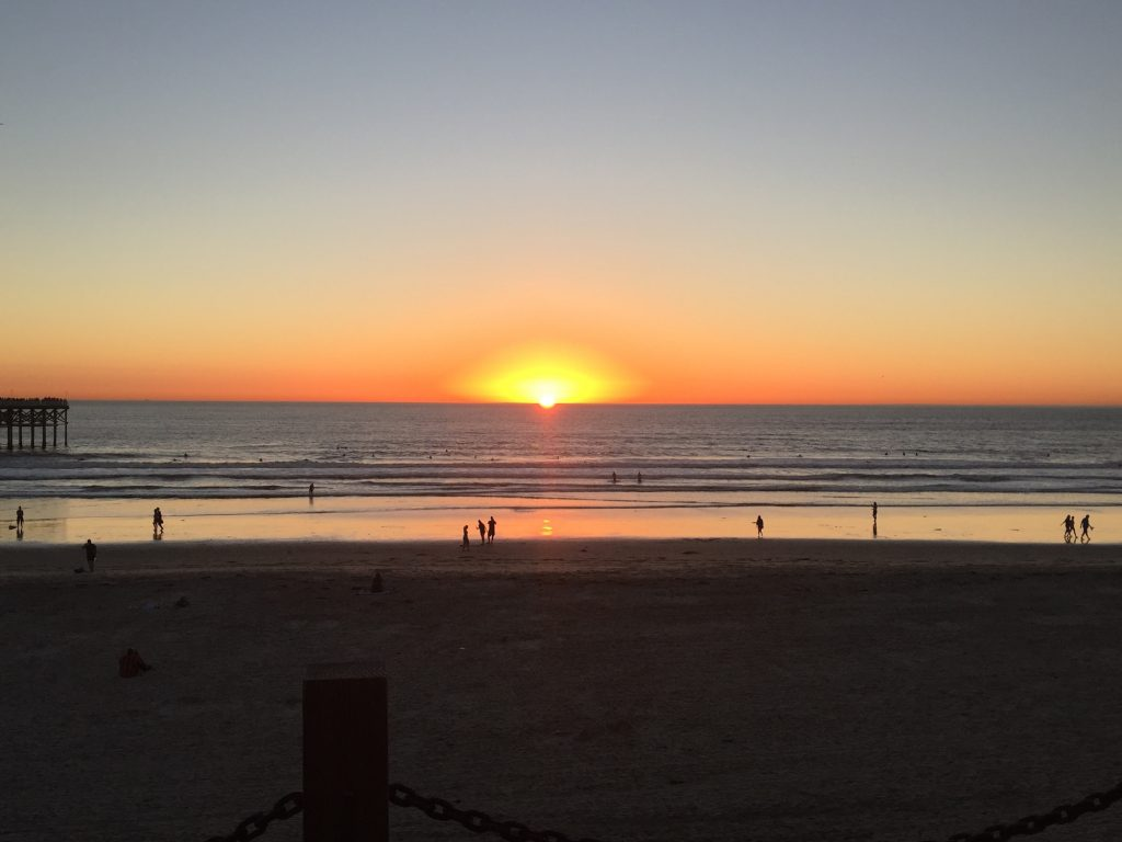 Mission Beach sunset with Contiki by Megan Murphy