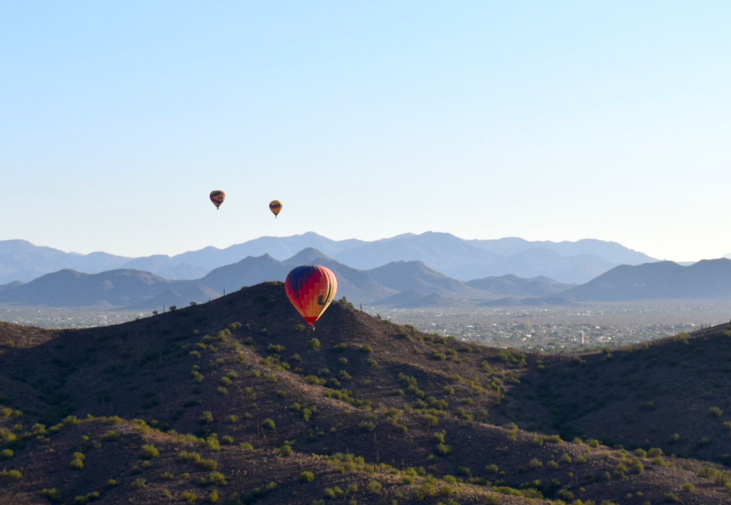 Ballooning over Phoenix with Contiki by Megan Murphy