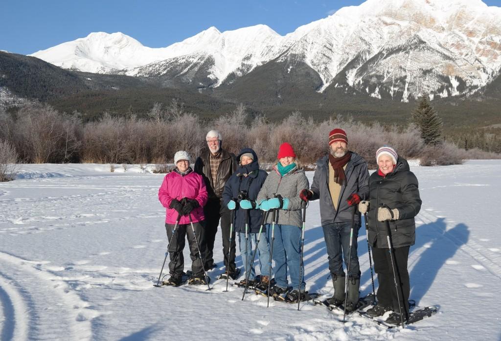 John Newton and friends on Ammolite Collette's Canada Winter Wonderland