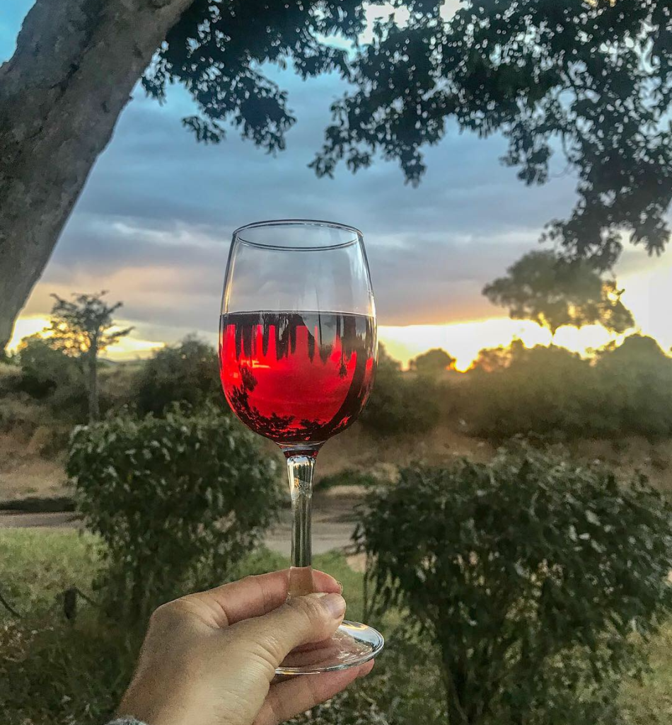 6. Savoring a glass of lovely South African rosé