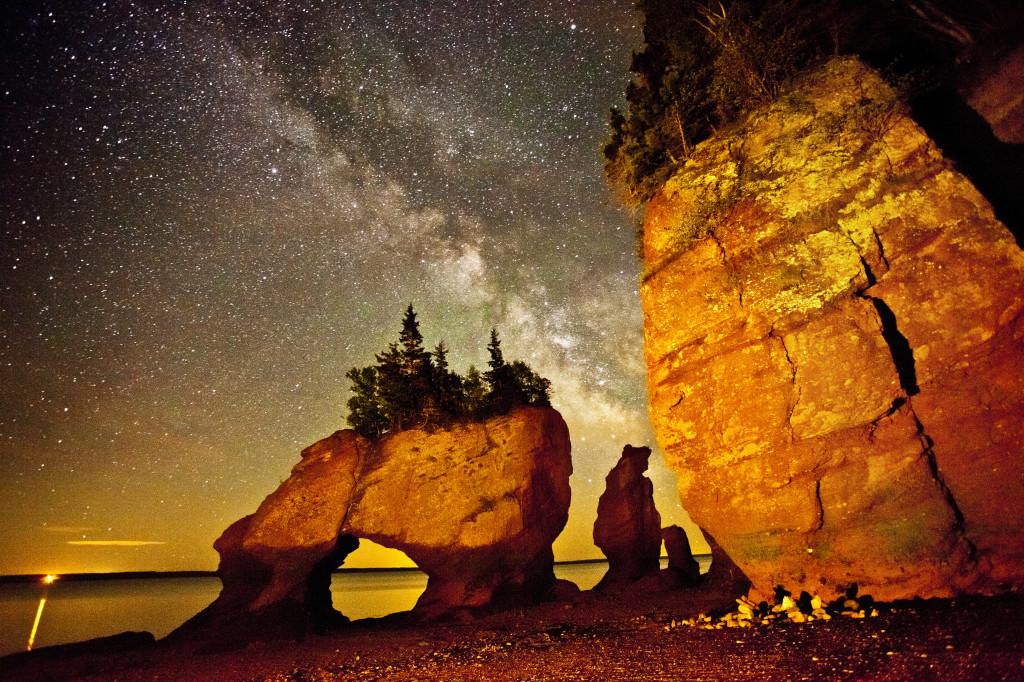 Hopewell Rocks Night Sky