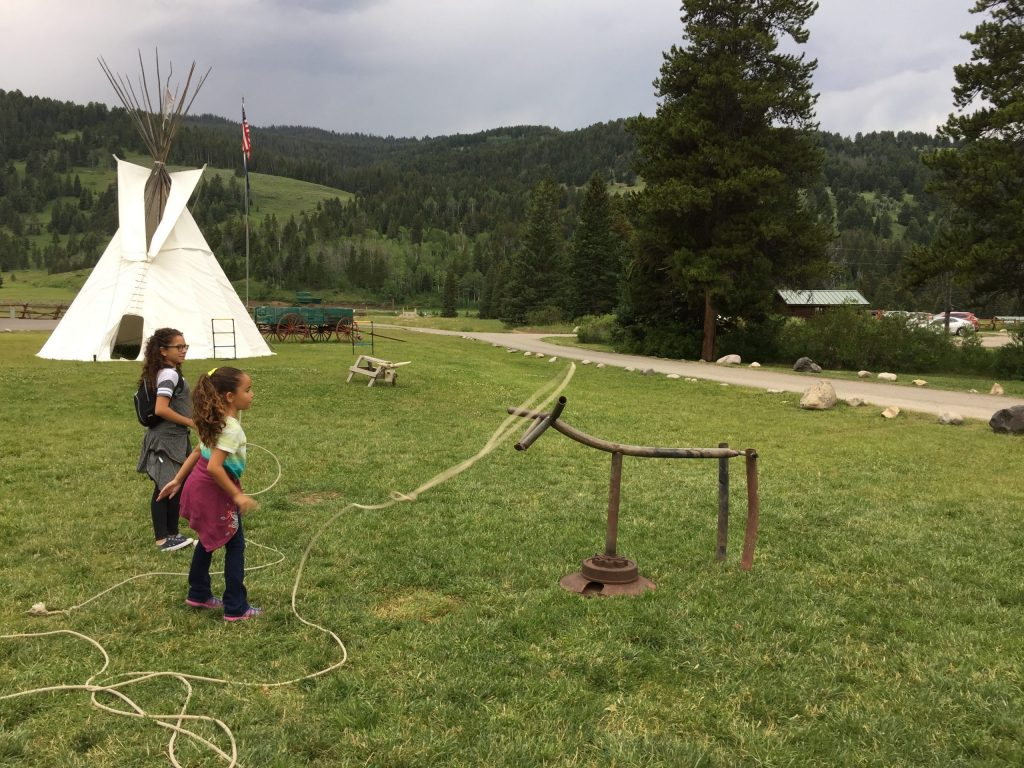 Melissa's Daughters Learning About Cowboy Culture