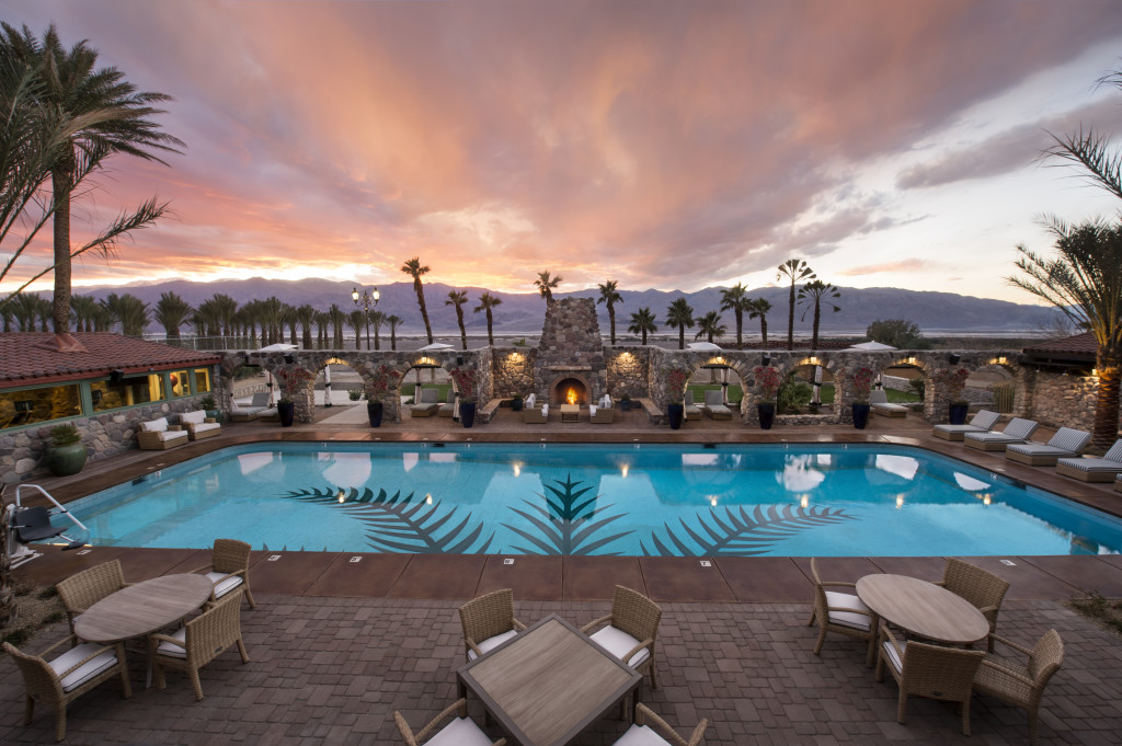 Pool at twilight - The Oasis at the Death Valley